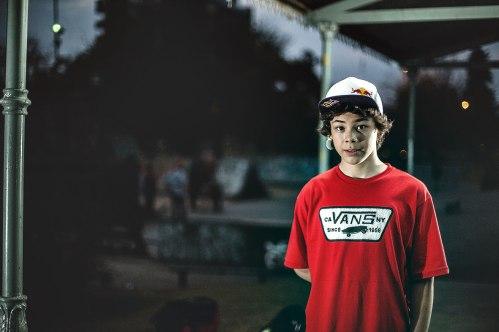 Skatepark in the background